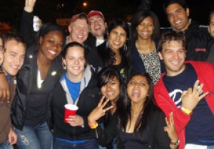 Group of students at Campout