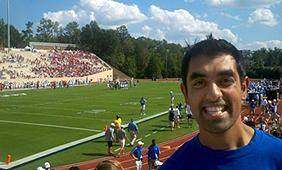 Dipesh at football game