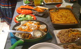 Food at the Around the World Dinner