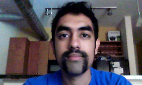 Dipesh Shah with mustache