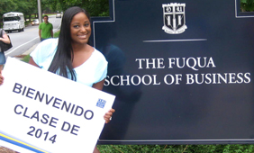 Crystal at Fuqua sign