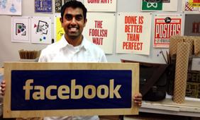 Dipesh at Facebook's Analog Design Lab.