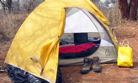 tent in africa