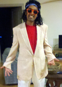 Dipesh in his 80's costume