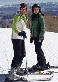 mba students skiing