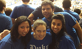 mba students at duke game