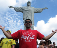 Enjoying some sightseeing in Rio De Janeiro.
