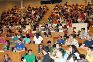 In the crowd at orientation kick off