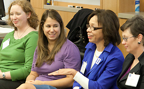 Current students and alumnae serve as panelists during the Weekend for Women.