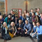 Fuqua students inside Clif Bar's headquarters in Emeryville, California.