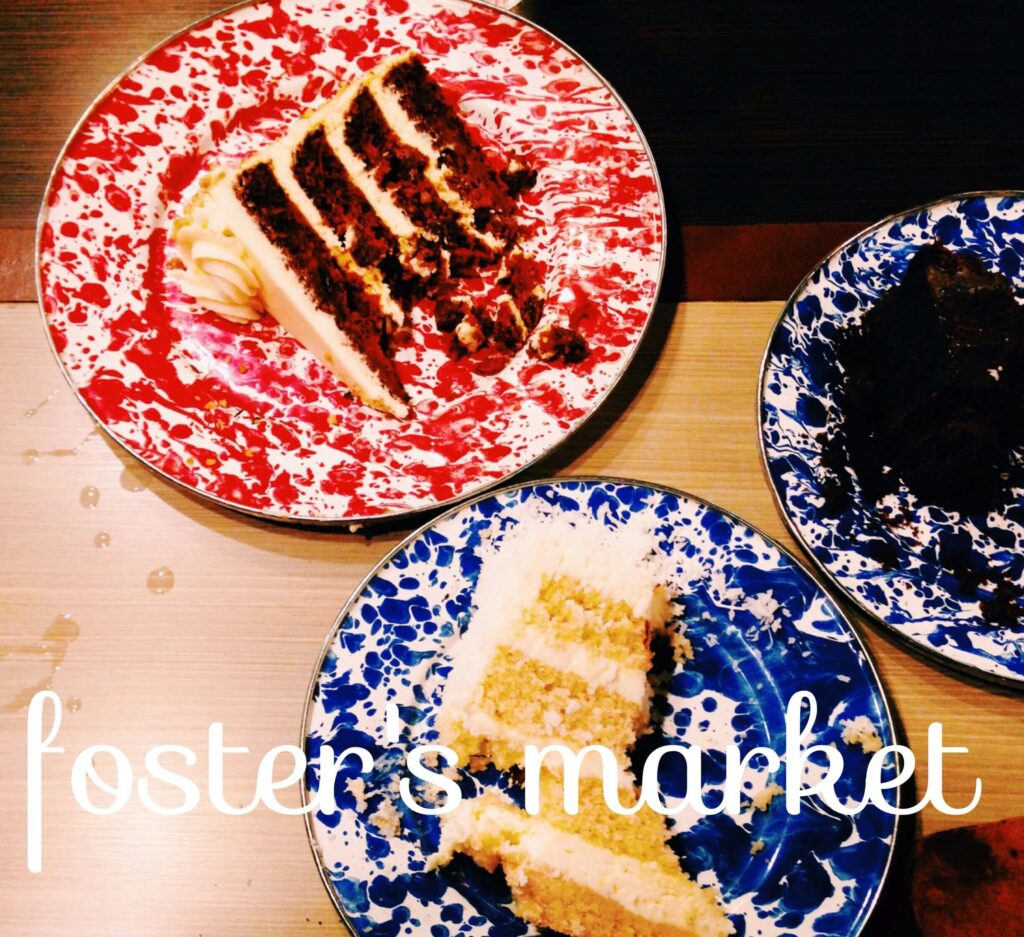 Cakes from Foster's Market in Durham
