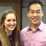 Judicial Representatives for the Daytime MBA Program, Maria McLemore and Bering Tsang.