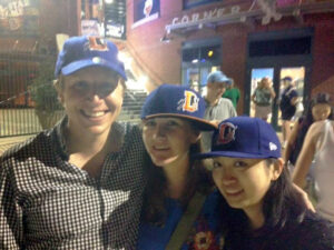 Me and some of my teammates at a Durham Bulls baseball game