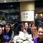 Students dining in a Asian resturant