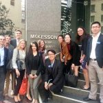 A group of students at McKesson in San Francisco
