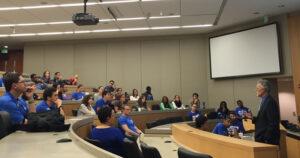 Dean Bill Boulding speaks at a diversity forum