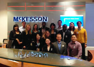 group photo of students on a visit to McKesson - Duke Daytime MBA alumnus on how Fuqua helped him transition from science to business