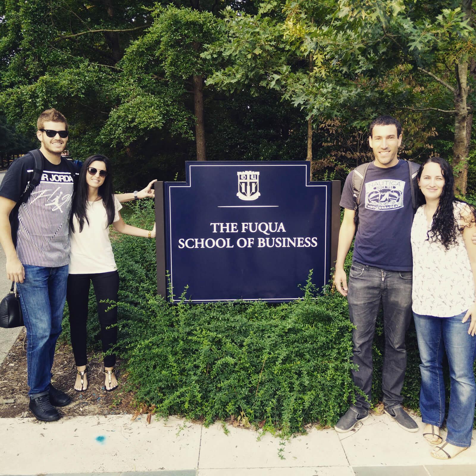 starting my MBA journey with fellow Israeli students at Duke Fuqua