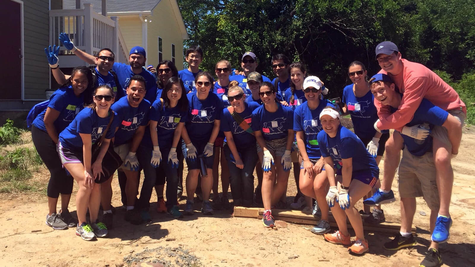 My house-building team for Durham's Habitat for Humanity - How Fuqua helps you prepare for the MBA experience