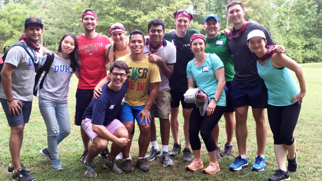Team building on Team Challenge Day - How Fuqua helps you prepare for the MBA experience