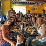 About Durham: Fuqua Partners having lunch with families at NanaTaco