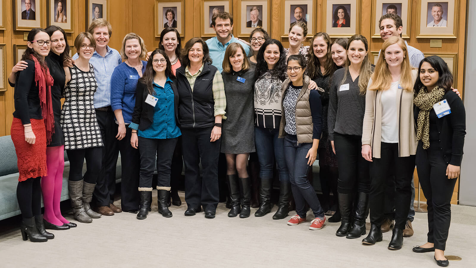 Student attendees of the SBSI conference pose with Rose Marcario, Patagonia CEO