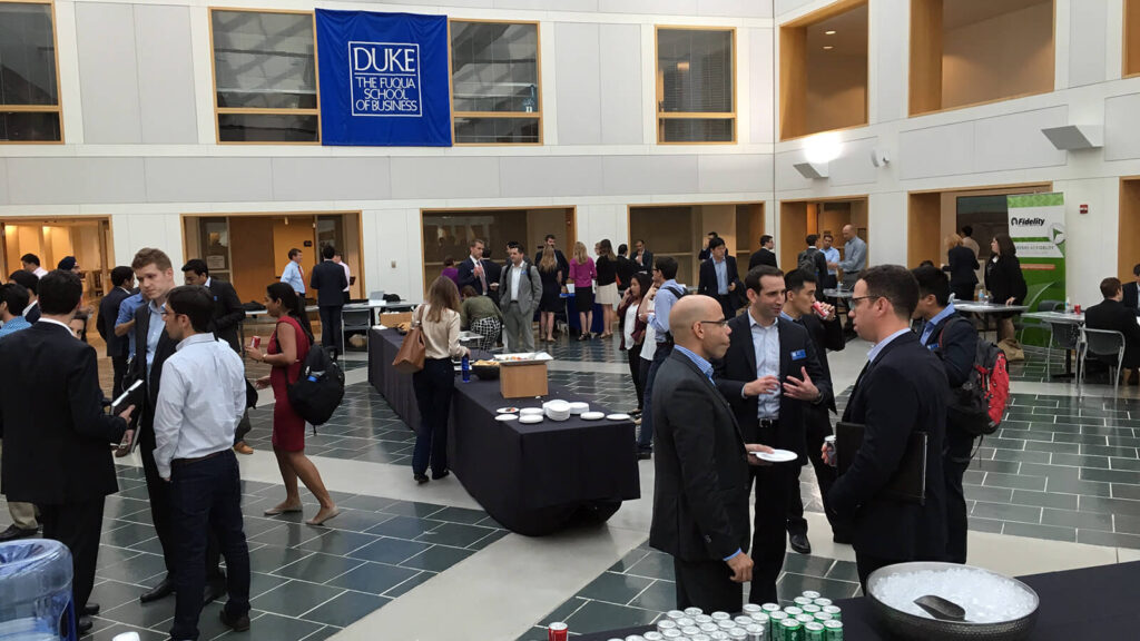 Our MBA network shares tips on how to make the most out of networking events like this one in the Fox Center
