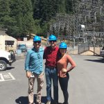 3 interns on a site visit, career in energy