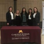 four MBA students at the case competition, case competitions