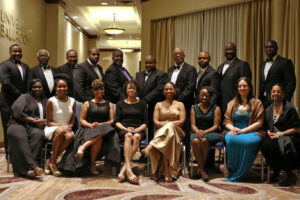 Members of the Greater Durham Black Chamber of Commerce seated at their Annual Gala to help Durham's small businesses