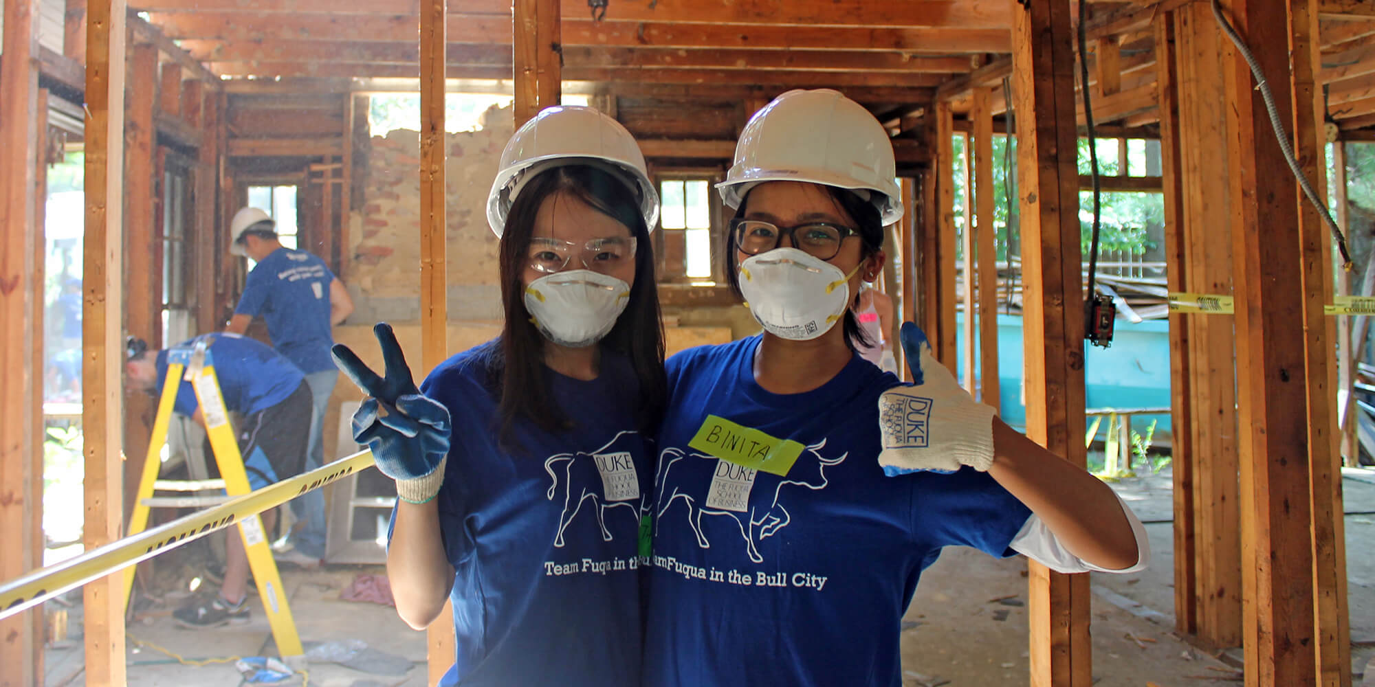 Helping Habitat for Humanity of Durham through the Fuqua on Board program