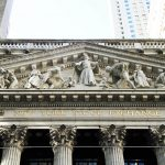 front of the New York Stock Exchange during Week on Wall Street