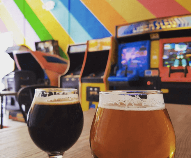 pints and arcade games at Beer Study, one of my favorites in Durham's Beer Scene