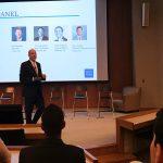 Professor John Buley speaking during the finance career intensive