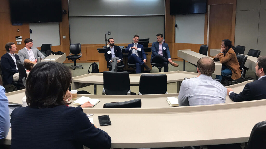 an intimate panel breakout session during the finance career intensive