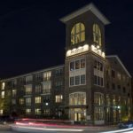 the apartment complex at night, where to live in Durham