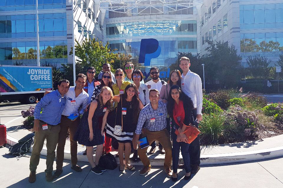 Students on Tech Trek outside Paypal's offices