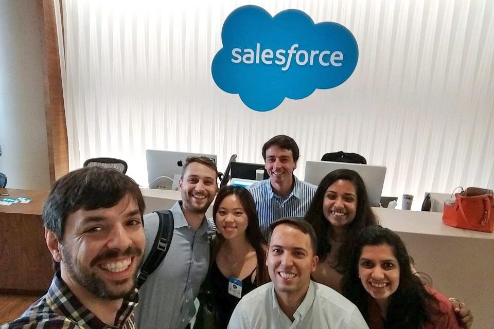 Students on Tech Trek inside Salesforce's office