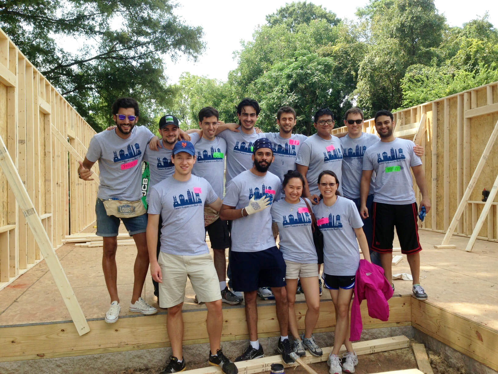 Students volunteering for Habitat for Humanity