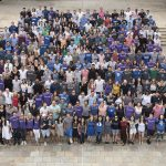 approximately 400 students in the Daytime MBA Class of 2018 gather for a group photo, student leadership at Fuqua
