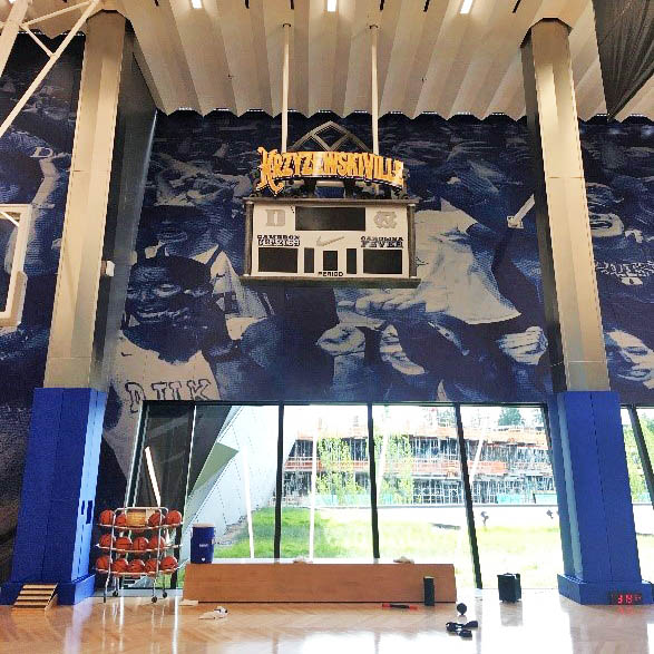 Krzyzewskiville court, in the Coach K facility on Nike's campus, Nike internship