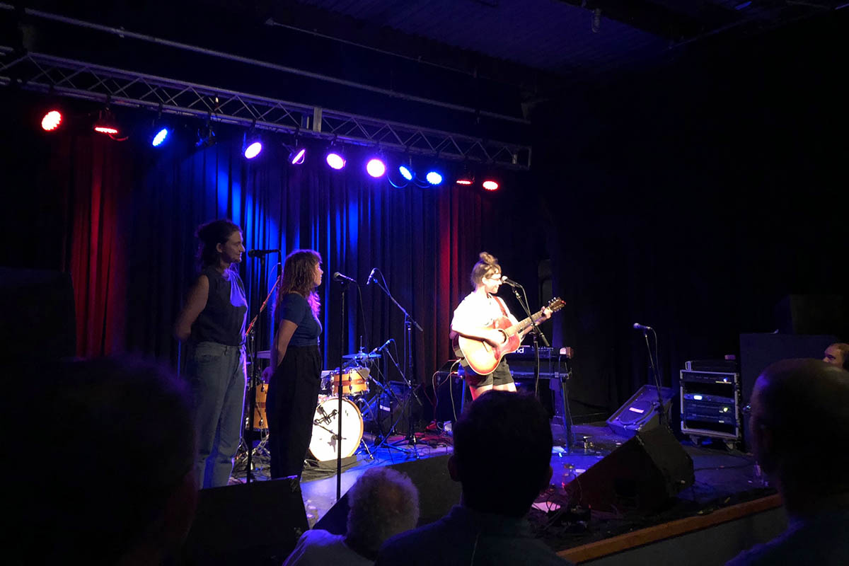 local music scene: an act performing onstage at the Cat's Cradle