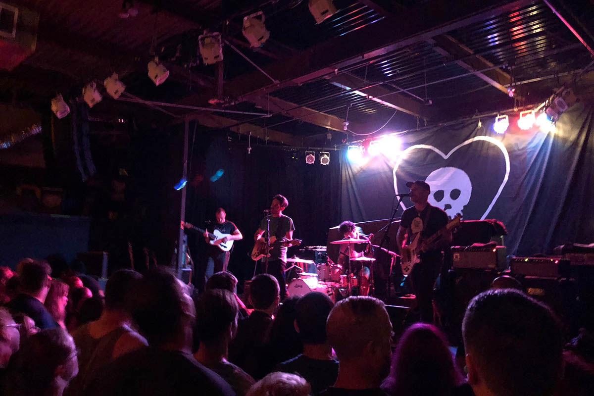 local music scene: a band onstage at the Haw River Ballroom
