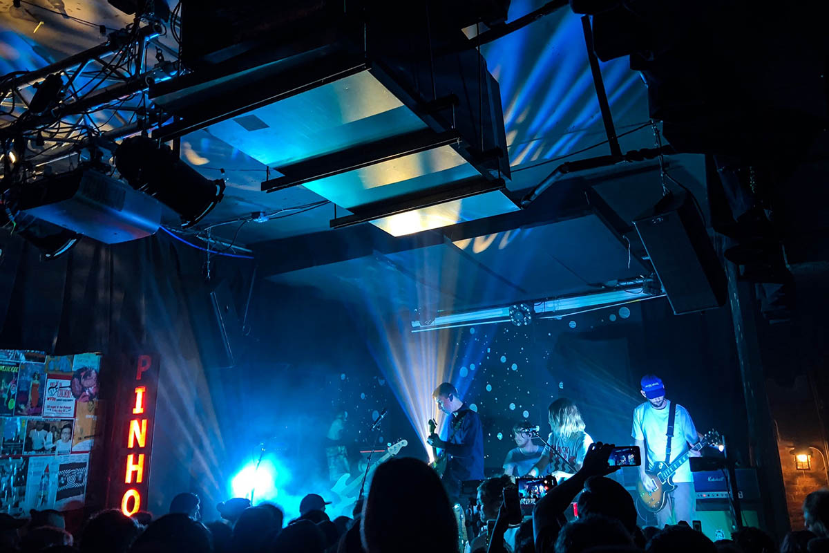 local music scene: a band performing at Pinhook