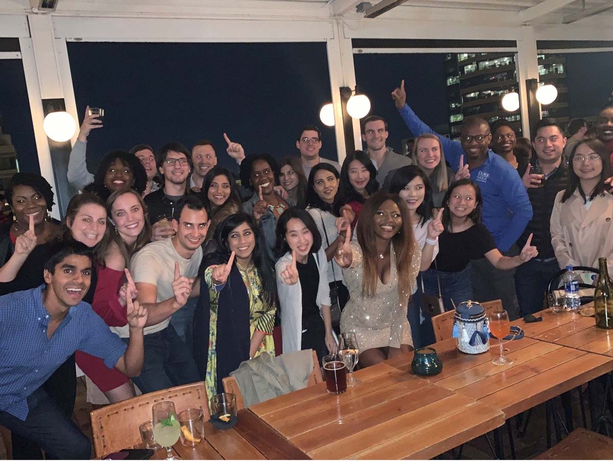 A group of students gathered for a birthday party; How My Multi-cultural Background Prepared Me to Attend Fuqua