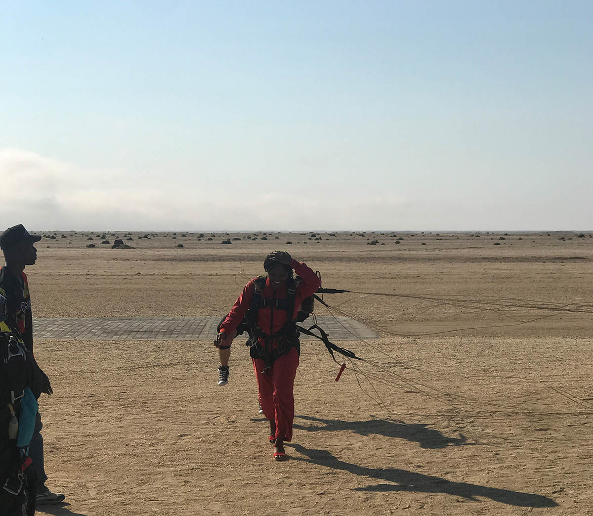 Nwaka Ismah after her skydiving experience in Namibia; How My Multi-cultural Background Prepared Me to Attend Fuqua