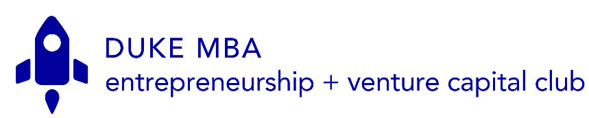The EVCC logo; startups, venture capital, and entrepreneurship