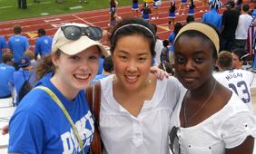 Juliana and friends at homecoming game