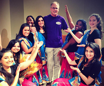 With my dance group and Dean Russ Morgan.