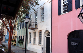 Rainbow Row: A historic and colorful street in Charleston.